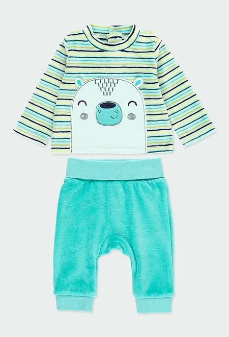 Pack en tricot à rayures pour bébé garçon_1