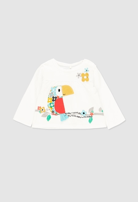 Knit t-Shirt for baby girl_1