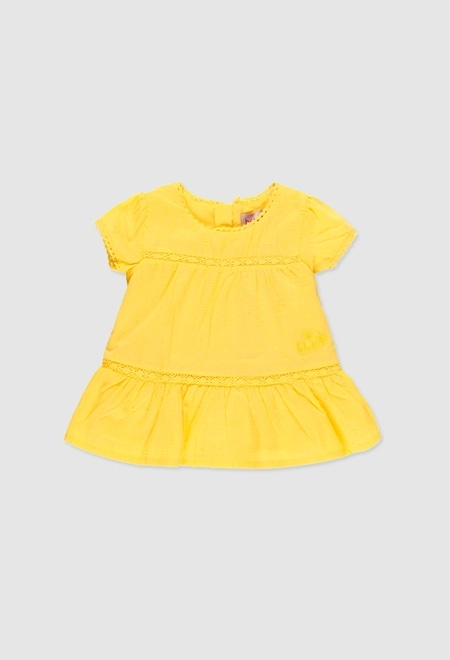 Vestido voile plumeti de bebé niña_1