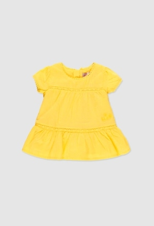Voile dress plumeti for baby girl_1