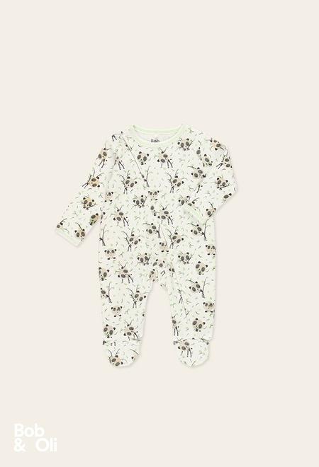 Pelele punto pandas de bebé - orgánico_1