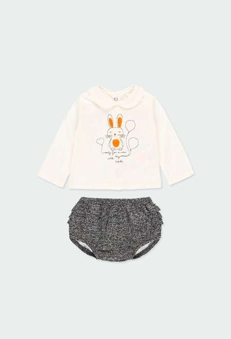Pack grestickt kombiniert für baby mädchen_1