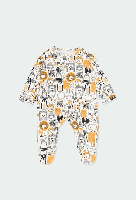 "Babygrow interlock ""animais"" do bébé_1"