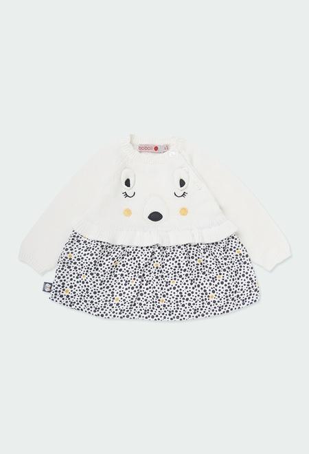"""Kleid strick """"bär"""" für baby mädchen_1"""