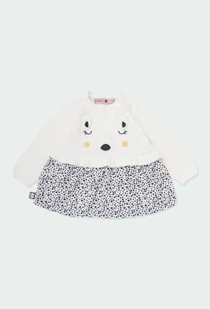 "Knitwear dress ""bear"" for baby girl_1"