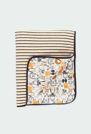 """Cobertor combinado """"animais"""" do bébé_1"""