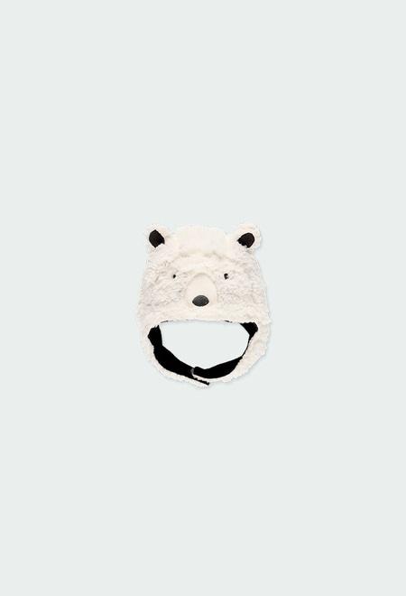 """Bonnet simili fourrure """"ours"""" pour bébé_1"""