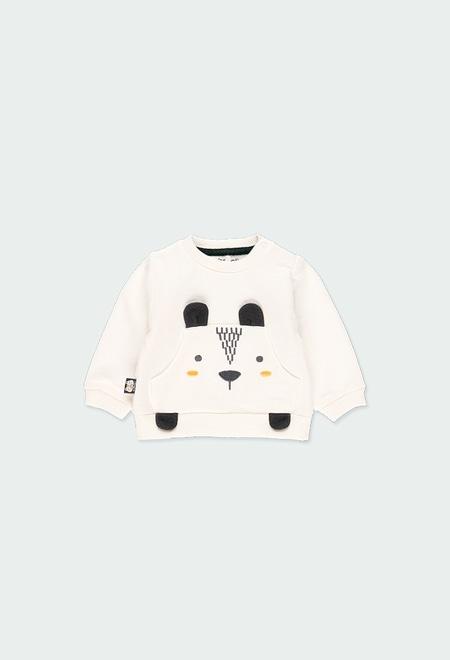 """Sweatshirt felpa flame """"urso"""" do bébé_1"""