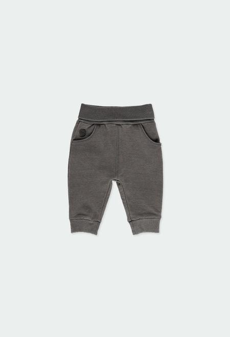 Pantalón felpa denim de bebé niño_1