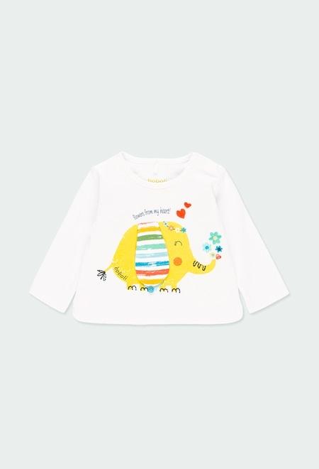 """T-Shirt gestrickt """"elefanten"""" für baby mädchen_1"""