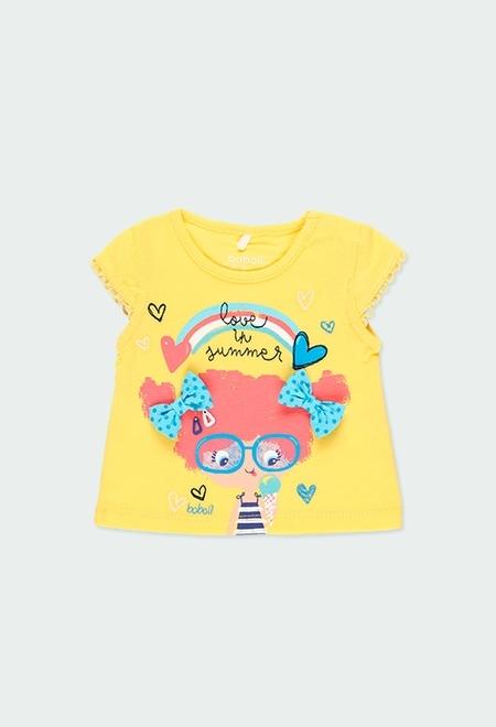 """T-Shirt tricot """"summer"""" pour bébé fille_1"""