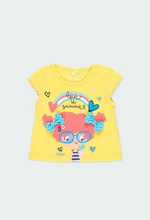 """Camiseta punto """"summer"""" de bebé niña_1"""