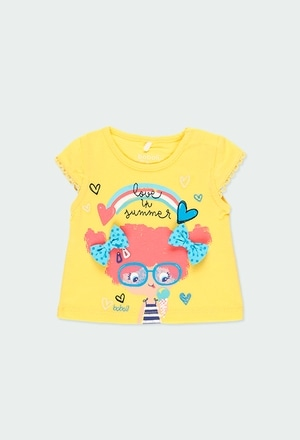 "Knit t-Shirt ""summer"" for baby girl_1"