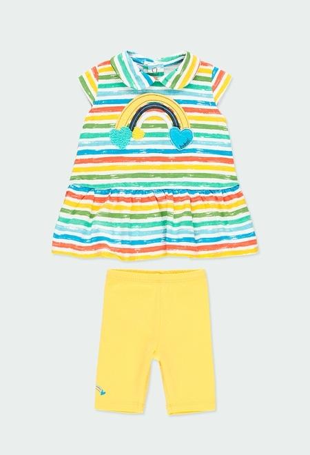 Pack en tricot à rayures pour bébé fille_1