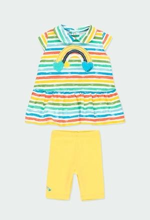 Pack strick gestreift für baby mädchen_1