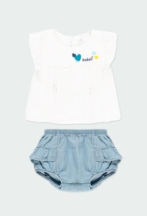 Pack en tricot bi matiere a volants pour bébé_1