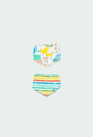 Pack 2 pañuelos babero de bebé_1