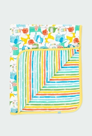"""Blanket knit """"elephant"""" for baby_1"""