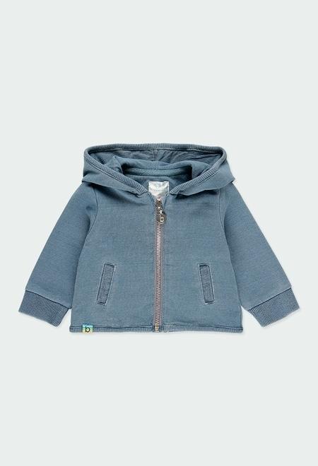 Veste en molleton jean pour bébé_1