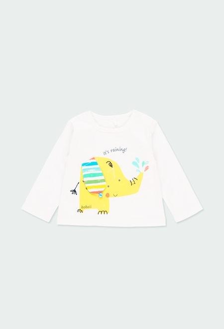 Camiseta malha manga comprida para o beb? menino_1