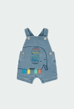 Fleece dungarees denim for baby boy_1