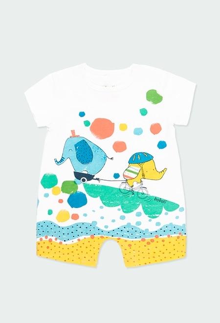"""Grenouillère en tricot """"animaux"""" pour bébé garçon_1"""