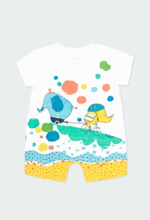 """Knit play suit """"animals"""" for baby boy_1"""