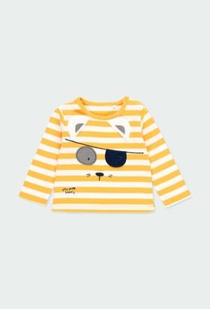 T-Shirt gestrickt gestreift für baby junge_1