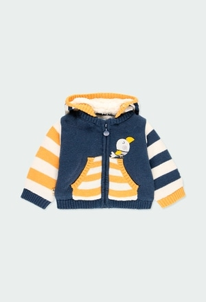 Chaqueta tricotosa listada de bebé_1