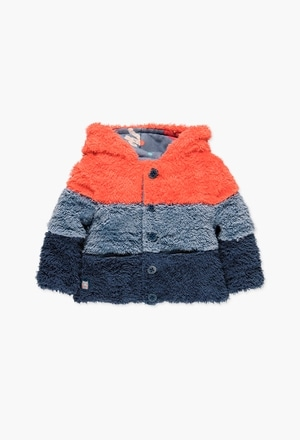 Jacket fur reversible for baby boy_1