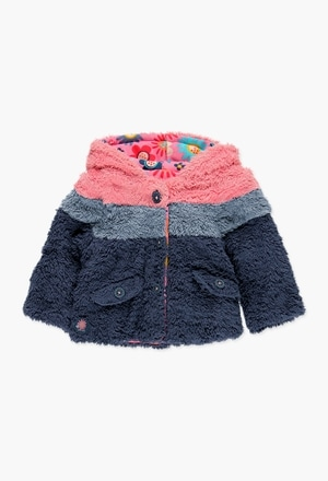 Jacket fur reversible for baby girl_1