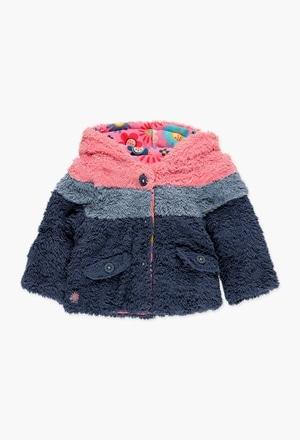 Jacket fur reversible for baby girl_1