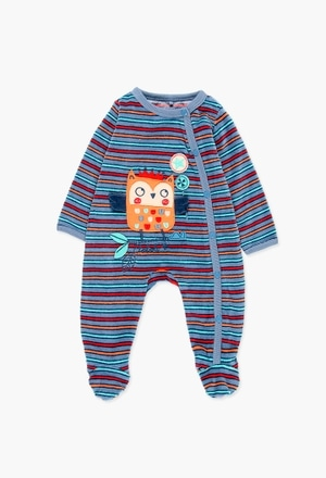 Velour play suit for baby boy_1