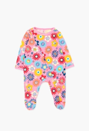 Interlock play suit for baby girl_1