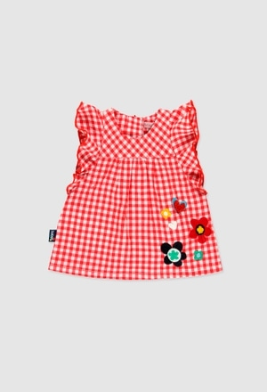 Poplin dress for baby girl_1