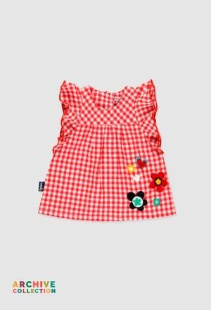 Robe en popeline pour bébé fille_1