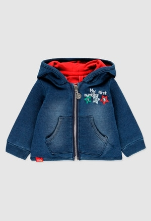 Fleece jacket denim for baby_1