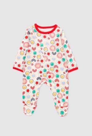Babygrow malha para o bebé menina_1