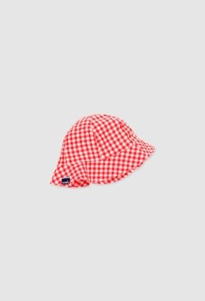 Bonnet popelin pour bébé fille_1