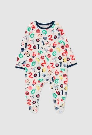 Pelele punto de bebé niño_1