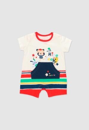 Grenouillère en tricot pour bébé garçon_1