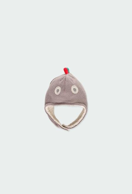 Bonnet tricoté fantasie pour bébé_1