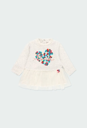 """Velour dress """"heart"""" for baby_1"""