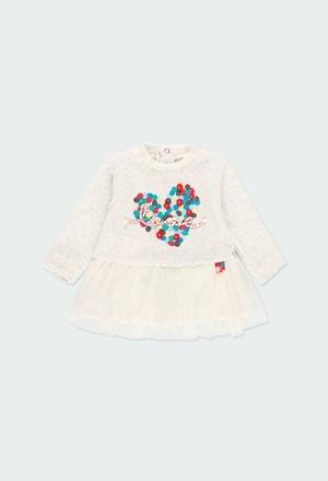 """Robe en velours """"coeur"""" pour bébé_1"""