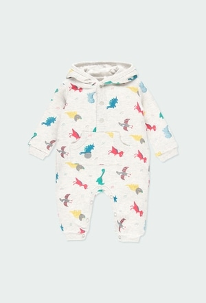 Fleece play suit flame for baby_1