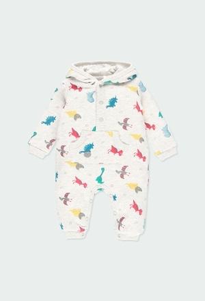 Pelele felpa flamé dinosaurios de bebé_1