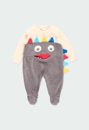 Babygrow veludo para o bebé menino_1