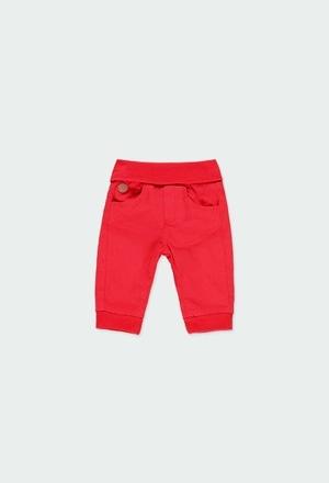 Pantaloni gabardina elastica per bimbo_1