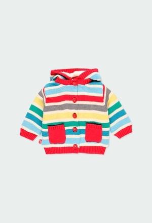 Casaco tricot às riscas do bébé_1