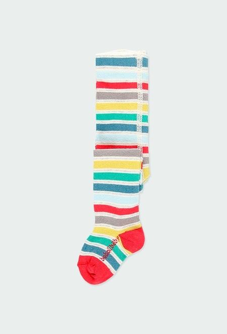 Collants à rayures pour bébé fille_1